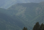 Montée : Col de Mantet depuis Sahorre, Commentaire : Le col de Mantet vu depuis la Collade de la Roquette (montée de la Cime des Cums)
