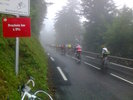 Montée : Col du Tourmalet depuis Sainte Marie de Campan, Commentaire : Etape du Tour 2014 ... 10,000 au départ, 8,450 à l'arrivée ... sous la pluie et au frais ...