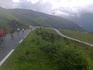 Montée : Station d'Hautacam depuis Argeles Gazost, Commentaire : Etape du Tour 2014, les derniers lacets ... sous la pluie.