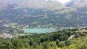 Montée : Col d'Azet depuis Genos, Commentaire : Vue sur le lac de Génos et le Col du Peyresourde.