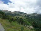 Montée : Cabane Pastorale des Forquets depuis Prats de Mollo, Commentaire : Vue sur la piste de la Collade des Roques Blanches