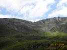 Montée : Col du Tourmalet depuis Luz Saint Sauveur, Commentaire : On aperçoit la dernière rampe à 14-15% juste sous l'arrivée du télécabine.