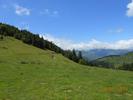 Montée : Col d'Aspin depuis Sainte Marie de Campan, Commentaire : Au sommet, vue ouest de la pente que l'on vient de gravir.
