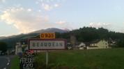 Auteur : Maurice R, Commentaire : 1er août 2014 : levé de soleil sur le Pic du Midi à 7 H 10 à Beaudéan... encore 2 H de montée !