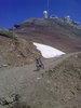 Montée : Pic du Midi depuis Luz Saint Sauveur, Commentaire :  La fin de la piste. Là, le sentier de randonnée monte à crête jusqu'au sommet, mais il faut porter le vélo!