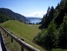 Montée : Col du Mont d'Orzeires depuis Le pont, Commentaire : Vue sur le Lac Brenet.