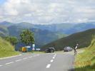 Montée : Col de Peyresourde depuis Avajan, Commentaire : Début de la descente sur Bagnières de Luchon
