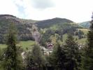 Montée : Col d'Allos depuis Colmars, Commentaire : On aperçoit la route du col, juste avant l'arrivée à la Foux d'Allos