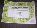 Montée : Col du Grand Colombier depuis Culoz, Commentaire : Le diplôme remis lors des montées réservées