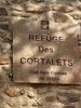Montée : Refuge des Cortalets depuis Villerach, Commentaire : La plaque.