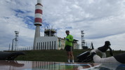 Montée : Pic de Nore depuis Villeneuve Minervois, Commentaire : Une vue presque à 360 degrés, et toujours du vent ...