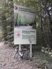 Montée : Côte des 17 Tournants depuis Dampierre en Yvelines, Commentaire : panneau en haut de la montée
