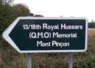 Montée : Mont Pinçon depuis Aunay sur Odon, Commentaire : Panneau au pied du mont